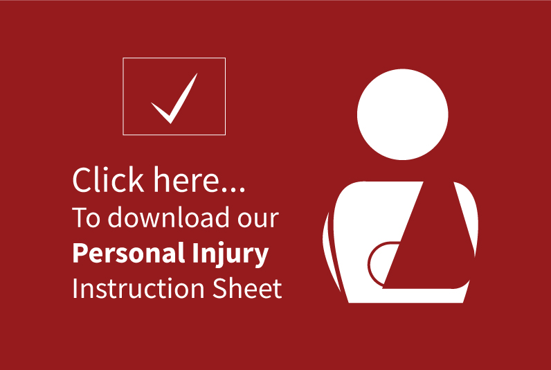 Personal Injury Instruction Sheet