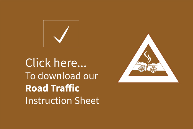 Traffic accident Instruction sheet