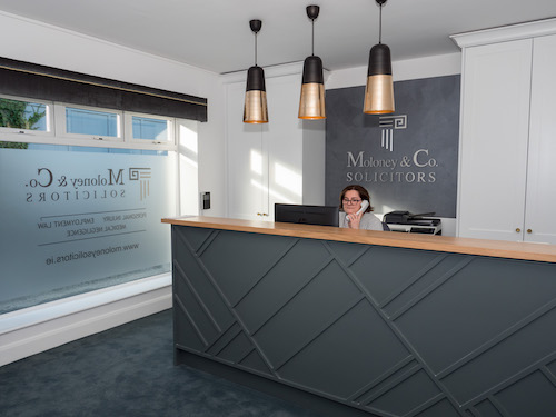 Moloney & Co Naas Reception Area